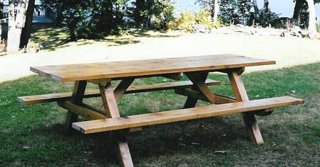 Hexagonal picnic table project. Imperial dimensions